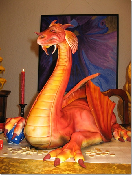 Awesome dragon made of cake