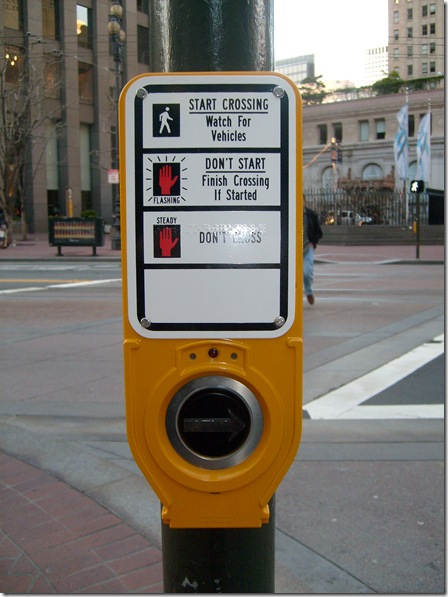 Idiot-proof WALK sign
