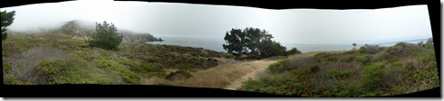 pano facing south from Steep Ravine cabins, Stinson Beach