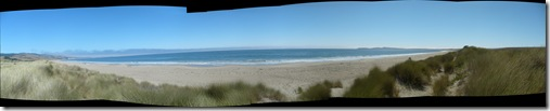 pano of Drake's Beach