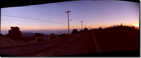 pano Mt. Tamalpais peak at sunset