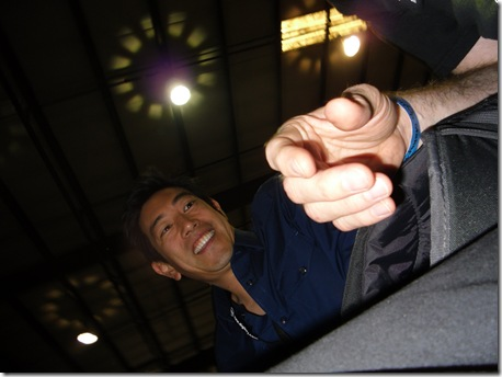 I sat next to Grant Imahara at Maker Fair, and all I got was this photo