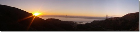 GG Bridge sunrise panocropped