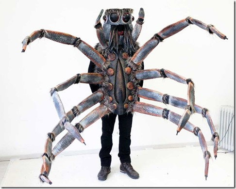 Custom-Made-Giant-Spider-Costume-With-Randomly-Flicking-Tongue-And-Voice